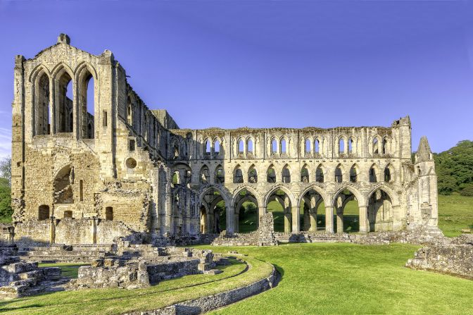 Ruins of Rievaulx Abbey in North Yorkshire, where St. Aelred was abbot. (Wikipedia)